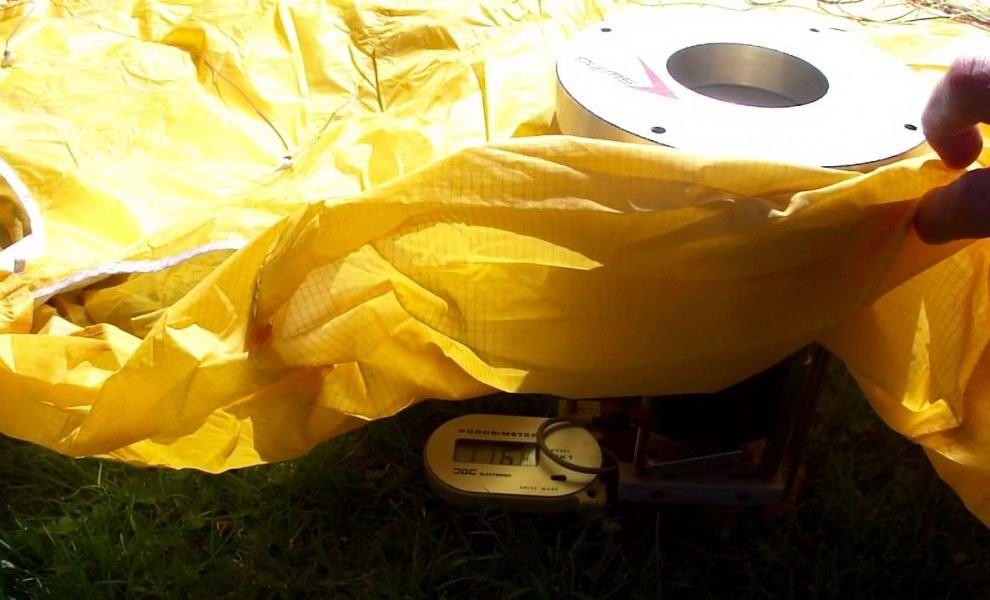 A siklóernyő porozitás mérése